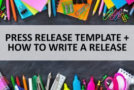 Report: How to Write a Press Release + Template