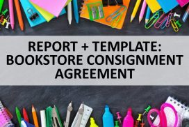 BOOKSTORE CONSIGNMENT AGREEMENT TEMPLATE